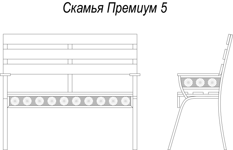 Схема кованой лавочки для дачи и садового участка. лавочки для дачи и садового участка.